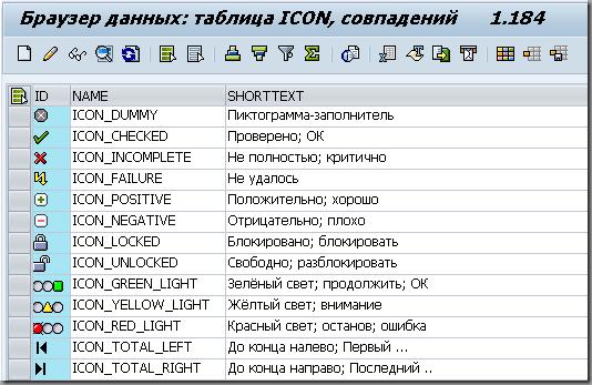 Список иконок