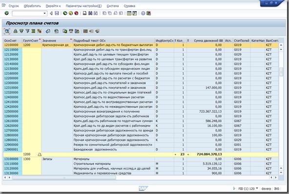 Экран отчёта