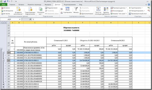 Группировка в Excel